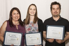 Five Year Long Service honourees: Pamela Greene, Brittany Delwel, Andrew Despres.