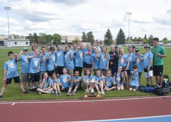 For the second year in a row École Notre Dame School is the winners of St. Thomas Aquinas Roman (STAR) Catholic School Division's annual Track STAR Challenge.